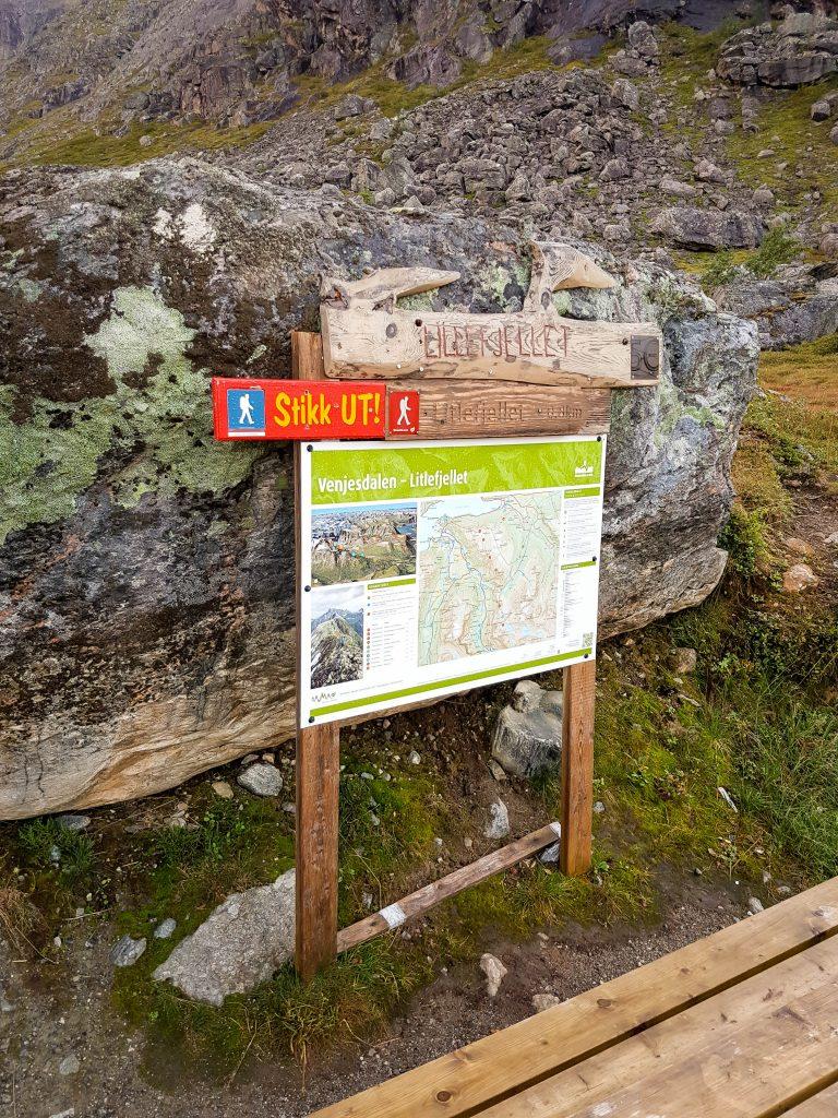 Start van Litlefjellet wandeling