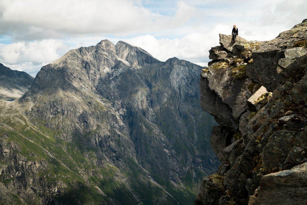 Genieten van het uitzicht op de top van Mannen