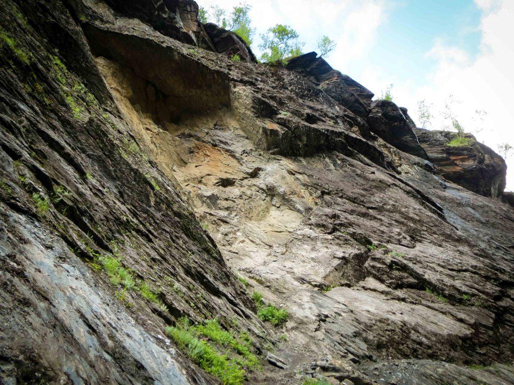 Een afgebroken stuk rots in Aurlandsdalen