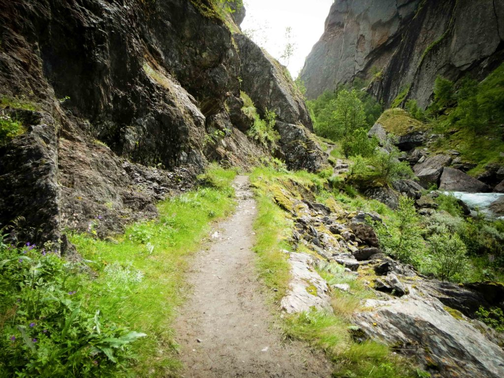 Wandelpad in Aurlandsdalen