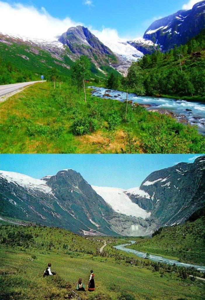Boyabreen gletsjer Noorwegen