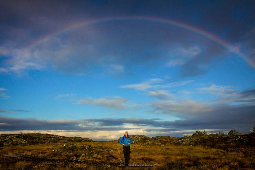 Een regenboog in Maurdalen, Smola.