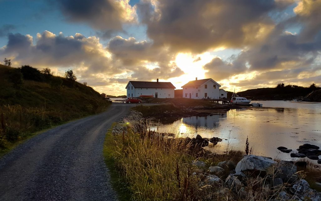 Bed & Breakfast op Smola, fjord-Noorwegen
