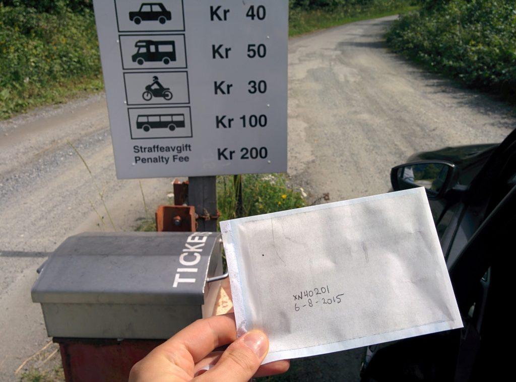 Contant tol betalen in Noorwegen