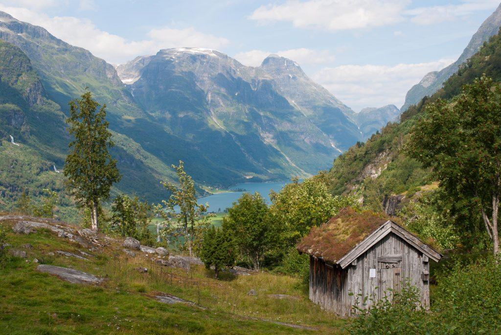 Uitzicht over het Oldenvatnet