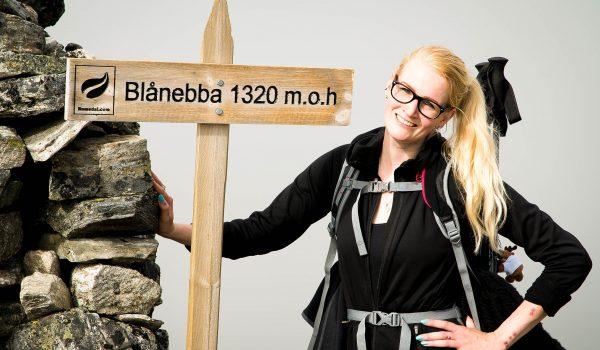 Lachend op de top van Blanebba
